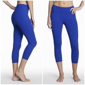 Fabletics Purple Capri Yoga Powerhold Leggings S